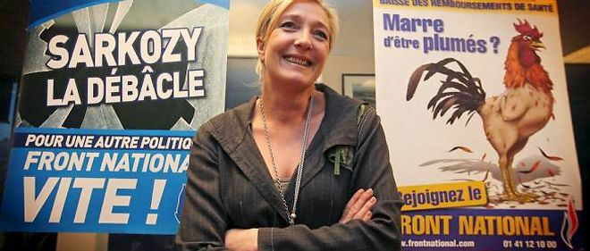 Vendredi 13 mai, au siège du Front national, Marine Le Pen organise une conférence de presse consacrée aux questions de pouvoir d'achat.