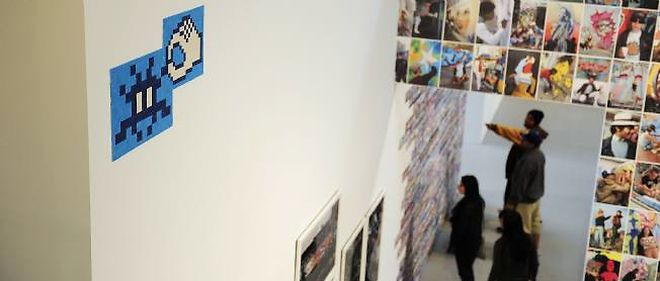 Invader a été invité par le MOCA de Miami pour l'exposition Art in the Street.
