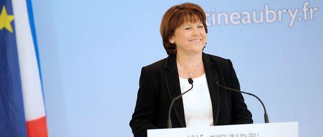 Martine Aubry a annoncé sa candidature à la présidentielle depuis son fief de Lille.
