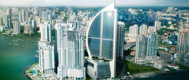 La tour Trump Ocean Club à Panama.