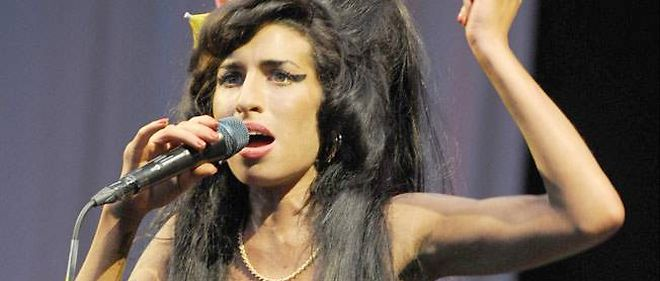 La chanteuse Amy Winehouse a Glastonbury, en juin 2008.