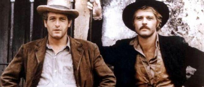 """Le couple Paul Newman et Robert Redford dans le film """"Butch Cassidy and the Sundance Kid"""" de George Roy Hill (1970)."""
