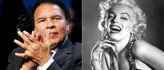 Mohamed Ali et Marilyn Monroe.