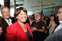 Martine Aubry en meeting à Nice, le 19 septembre. ©Bruno Bebert