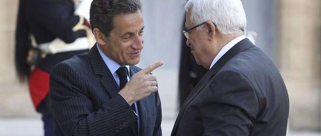 Nicolas Sarkozy et Mahmoud Abbas, ici le 21 avril 2011 à l'Élysée