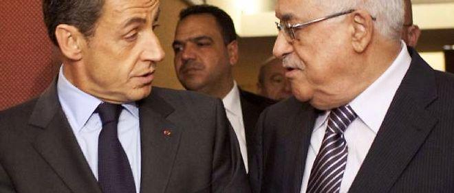 Nicolas Sarkozy a rencontré à New York le président de l'Autorité palestinienne, Mahmoud Abbas.