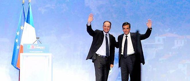 """Durant leur déjeuner, Jean-François Copé et François Fillon ont, entre autres, parlé de """"la crise économique"""" et de """"la campagne présidentielle""""."""