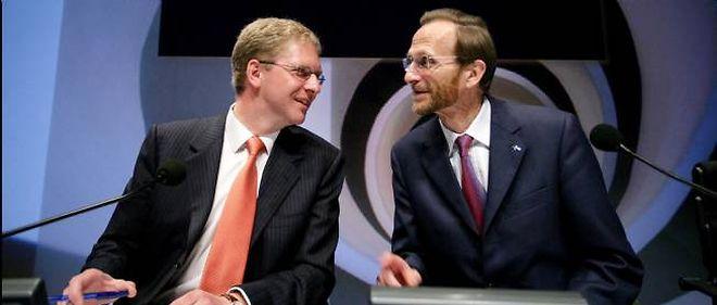 Le 9 mai 2007, Axel Miller et Pierre Richard, à l'assemblée extraordinaire des actionnaires de Dexia.