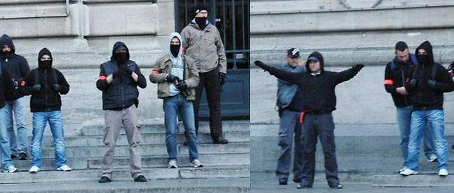 Ces images montrent, selon Copwatch, des policiers qui provoquent des manifestants.