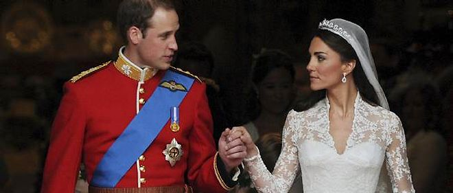 Le prince William et son epouse, Kate.