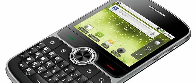 Le U8350 de Huawei, un concurrent sérieux aux smartphones BlackBerry de RIM.