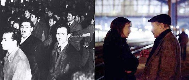 """À gauche : """"Octobre à Paris"""", un film de Jacques Panijel. À droite : """"Ici on noie les Algériens"""", un film de Yasmina Adi."""