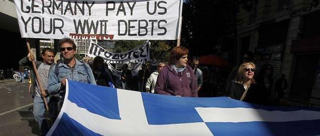 Manifestation à Athènes, le 19 octobre 2011.