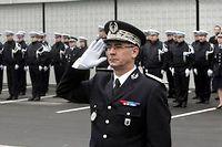 Jean-Claude Menault, directeur départemental de la sécurité publique du Nord lors de sa prise de fonction le 1er février 2008. ©Pierre Le Masson