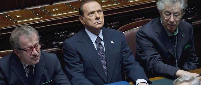 Silvio Berlusconi à la Chambre des députés, mardi après-midi.