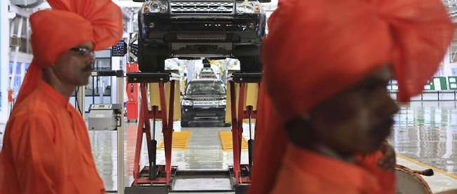 À Pune, en Inde, dans la première usine d'assemblage Land Rover-Jaguar ouverte par le groupe Tata sur le sol indien depuis le rachat de la marque britannique.