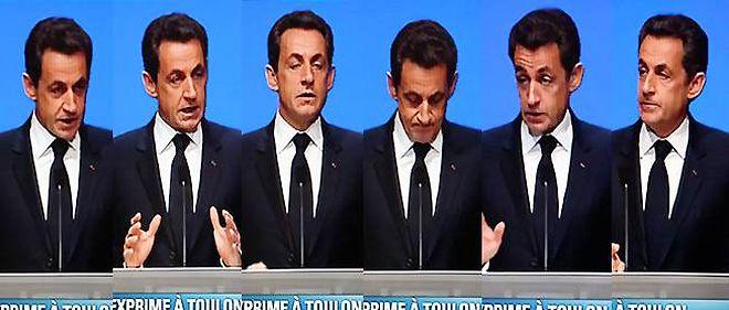 Nicolas Sarkozy à Toulon, jeudi 1er décembre.