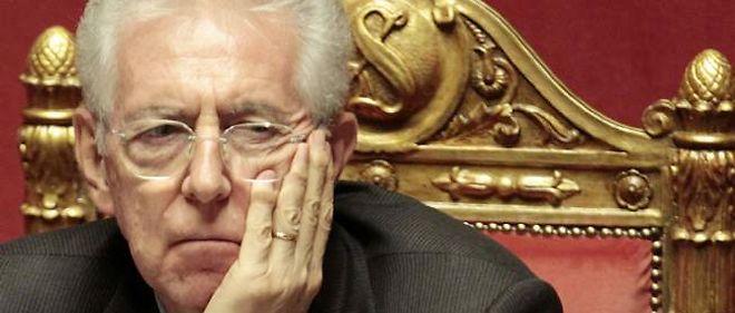 Mario Monti au Parlement, le 5 décembre.