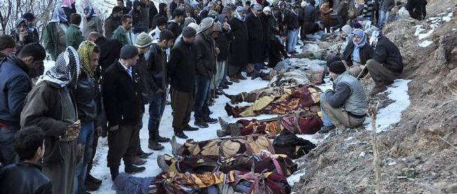 Les victimes se livraient avec des mules et des ânes à une contrebande de cigarettes entre l'Irak et la Turquie.