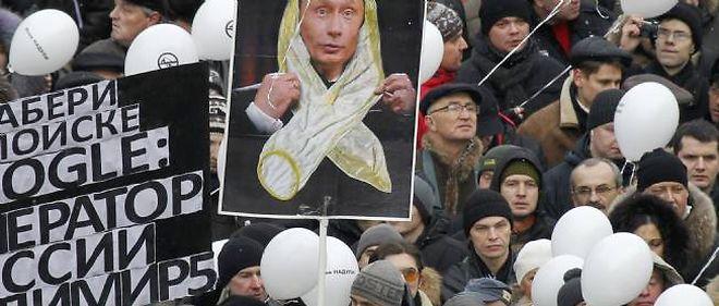 Manifestation anti-Poutine, le 24 décembre 2011 à Moscou.