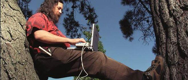 Richard Stallman à Palo Alto en Californie.