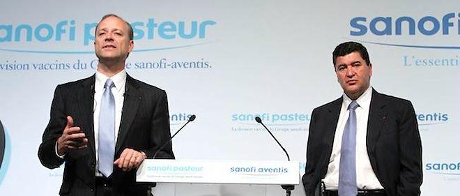 Sanofi (Christopher A. Viehbacher à gauche et Elias Zerhouni à droite) lance Warp Drive Bio, entreprise de biotechnologie innovante.