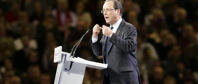 François Hollande lors de son discours au Bourget, le 22 janvier 2012.