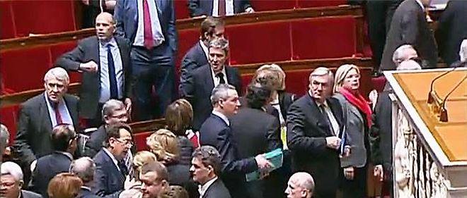 La majorité a quitté les bancs de l'Assemblée nationale mardi après-midi.