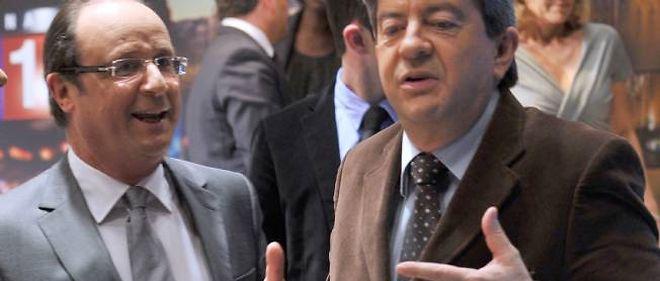 François Hollande et Jean-Luc Mélenchon, ici en 2010.