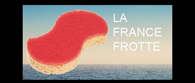 """L'une des parodies de l'affiche """"La France forte"""", diffusée par """"La parodie forte""""."""