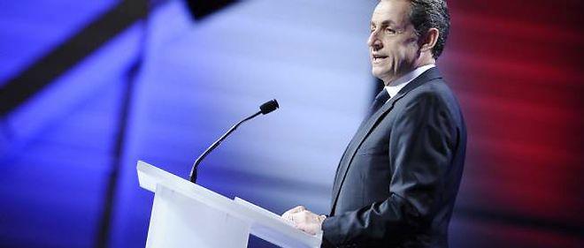 Nicolas Sarkozy, en meeting, à Marseille.