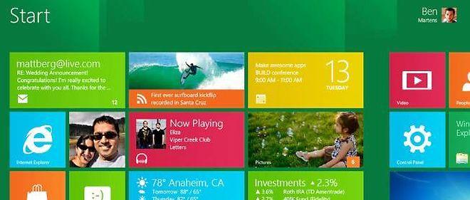 Le nouvel écran d'accueil de Windows 8 pourrait dérouter les utilisateurs.