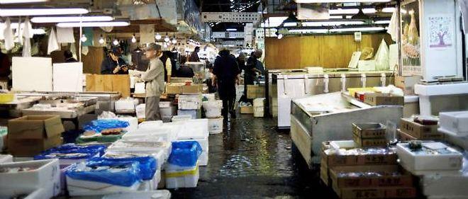 Le marché aux poissons de Tsukiji à Tokyo