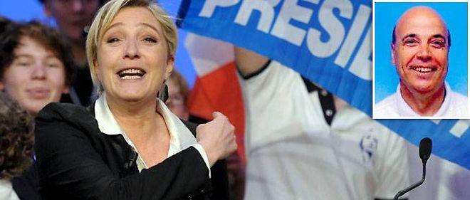 Marine Le Pen et Sylvain Semhoun, élu de l'Assemblée des Français de l'étranger sur la circonscription d'Israël.