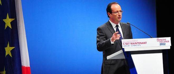 François Hollande à Aurillac le 22 mars.