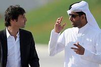 Leonardo et le président du PSG Nasser Al-Khelaifi le 3 janvier au complexe Aspire à Doha. ©Franck Fife