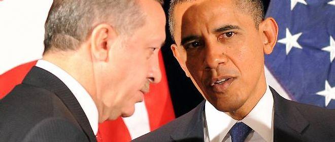 Recep Tayyip Erdogan et Barack Obama lors de leur rencontre à Séoul.