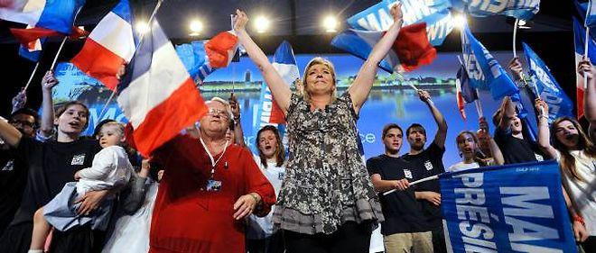 Marine Le Pen en meeting à Nantes le 25 mars.