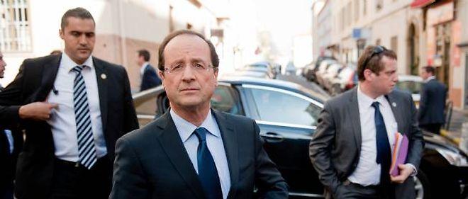 François Hollande à Ajaccio.