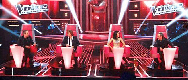 """Les jurés de """"The Voice"""" sur TF1."""