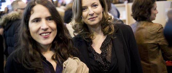 Mazarine Pingeot et Valérie Trierweiller, le 18 mars dernier, à Paris.