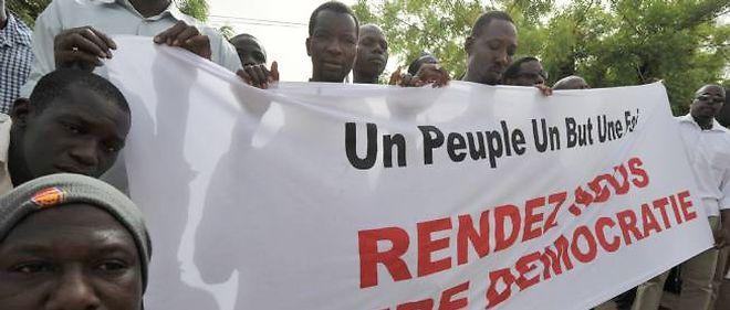 Une manifestation de Maliens opposés au coup d'État le 29 mars dernier à Bamako.