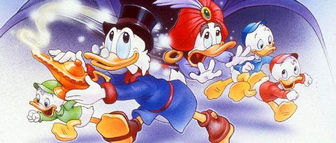 """Le film des studios Walt Disney, """"Picsou et la lampe perdue"""", en 1990."""