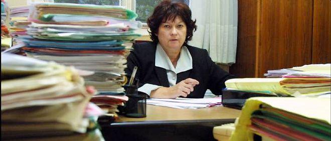 La juge Marie-Odile Bertella-Geffroy dans son bureau du palais de justice à Paris le 19 septembre 2011.