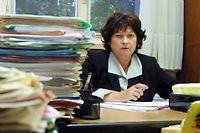 La juge Marie-Odile Bertella Geffroy dans son bureau du palais de Justice à Paris le 19 septembre 2011. ©Thomas Coex