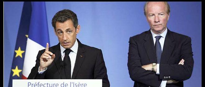 Nicolas Sarkozy à Grenoble, en juillet 2010.