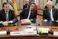 Mariono Rajoy, Nicolas Sarkozy et Mario Monti ne sont pas à l'abri d'un mouvement de défiance des marchés. ©François Lenoir