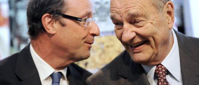 L'ancien président Jacques Chirac évoque dans le deuxième tome de ses mémoires François Hollande en des termes élogieux.