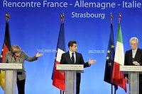 Nicolas Sarkozy, Angela Merkel, Mario Monti ont pour l'instant mis 'lacent sur la rigueur. ©Eric Feferberg