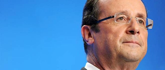 Francois Hollande, lors de sa conference de presse a Paris, le 25 avril 2012.